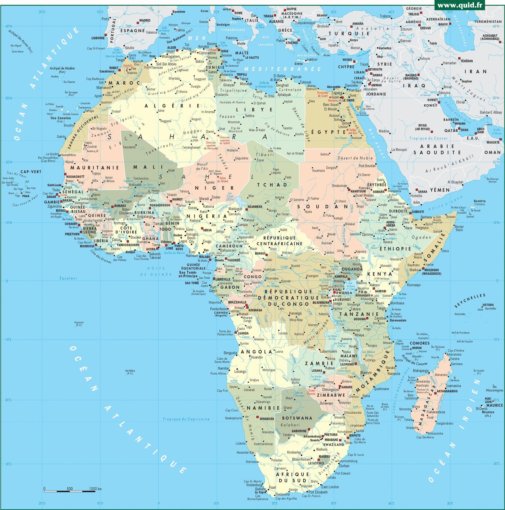 Carte De L Afrique Cartes Sur Le Continent Africains Pays