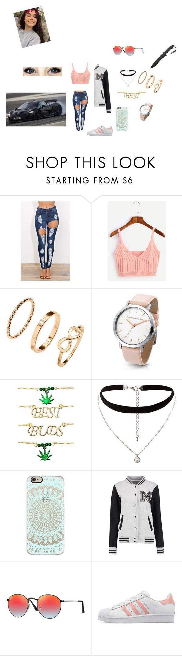 """""""Sem título #63"""" by laurafeldetonello on Polyvore featuring H&M, Ana Accessories, New Look, Casetify, Ray-Ban and adidas Originals"""