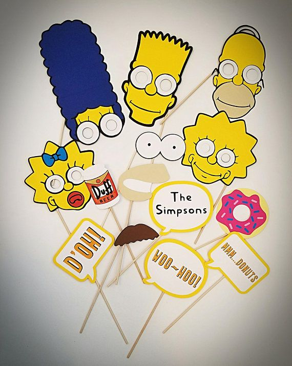 Add some fun to next party with these Simpsons themed photo booth ...
