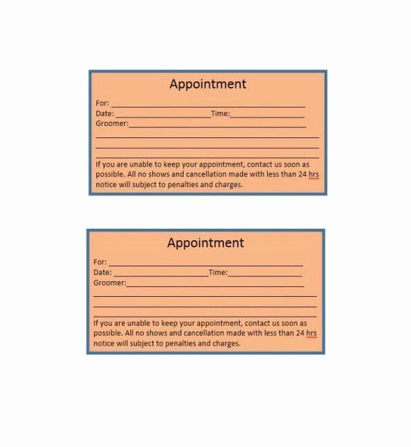 Appointment Reminder Card Template Free Fresh 40 Appointment Cards Templates Appointment Rem Card Template Appointment Cards Business Card Template Photoshop