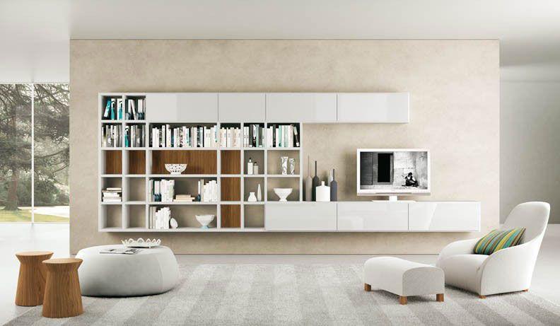 white and cream tv wall mount shelves design | shopping