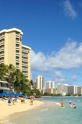 Close Public Beach To The Embassy Suites Waikiki Beach Walk