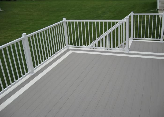 Pin By Cherie Smith On Outdoor Ideas Aluminum Railing Deck Decks And Porches Azek Decking
