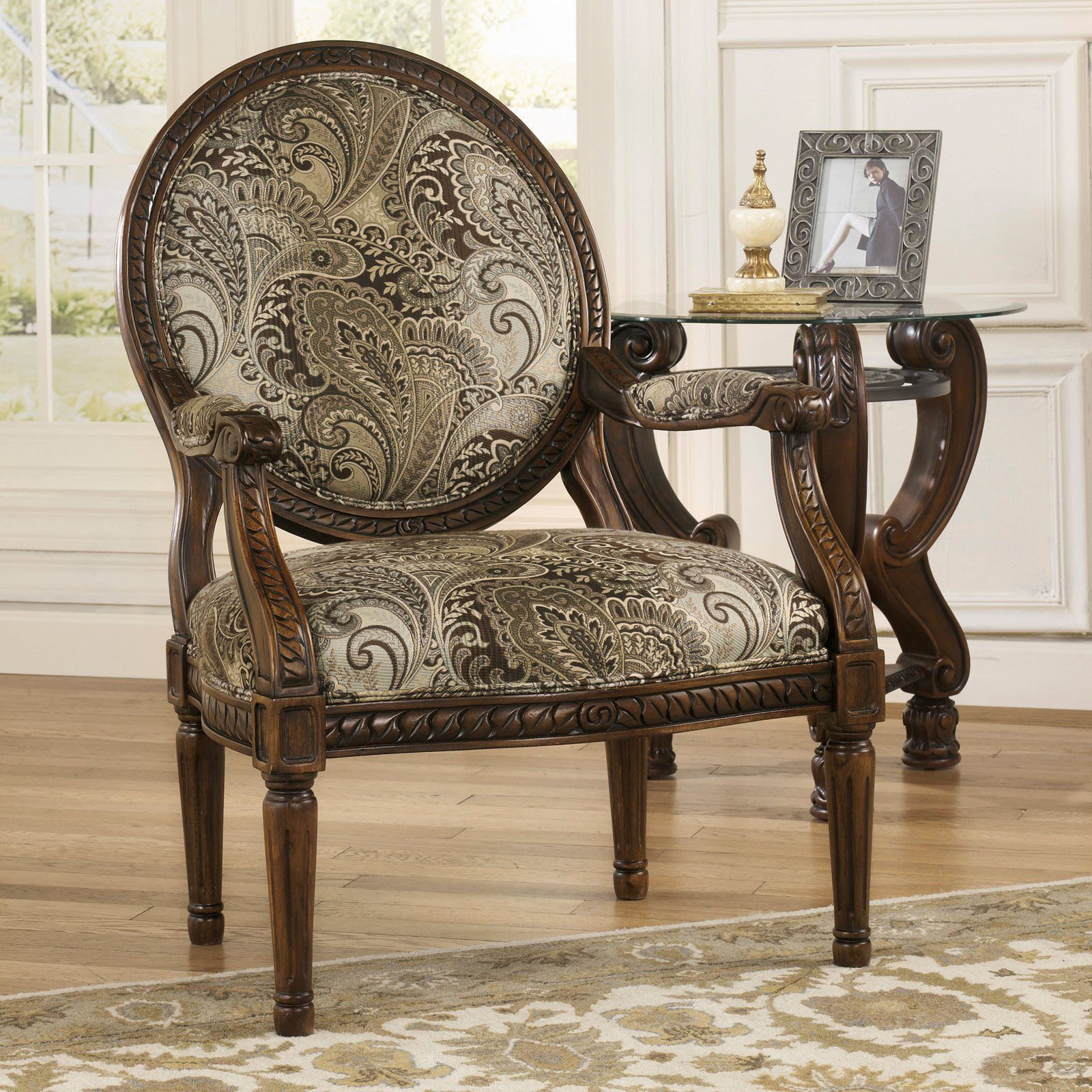 Signature Design By Ashley Martinsburg Showood Accent Chair - Meadow | from hayneedle.com
