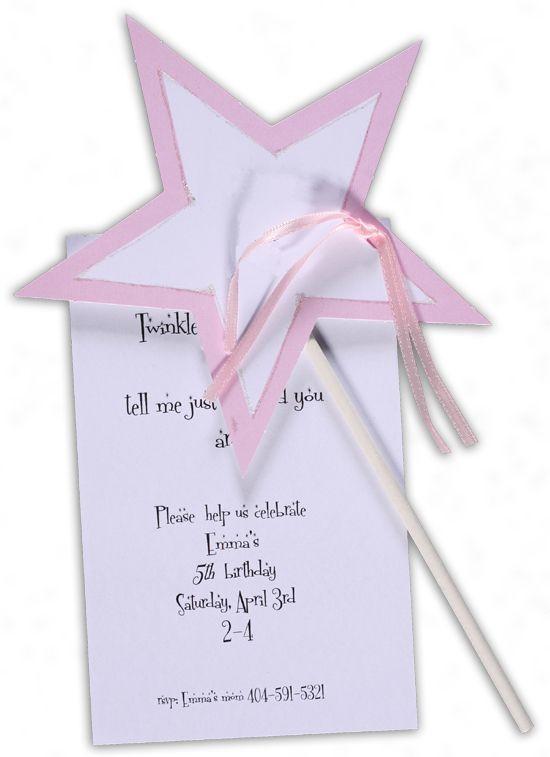 little star invitation from stevie streck girl s birthday party