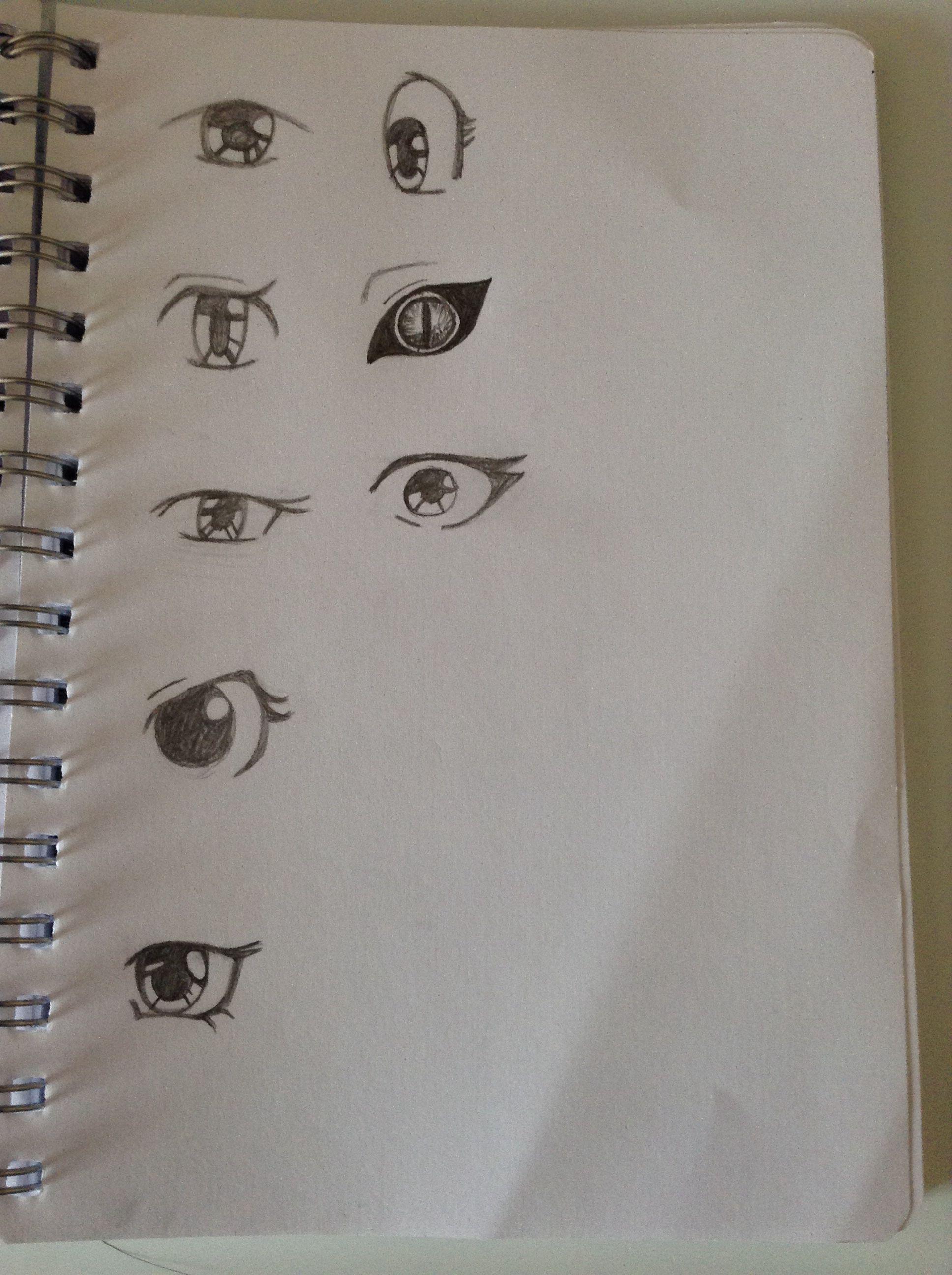 Anime eyes thinking of making my own manga character idk