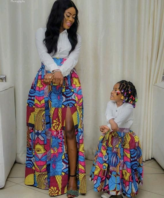 African mommy and me skirts/ African women clothing / African twinning skirts/ African fashion skirt/