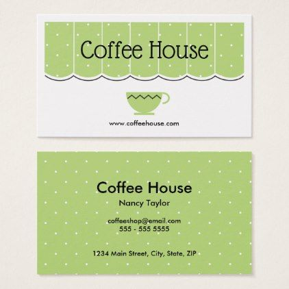 Coffee Shop Cafe Canopy Cup Simple Business Card - light gifts - business invitation template