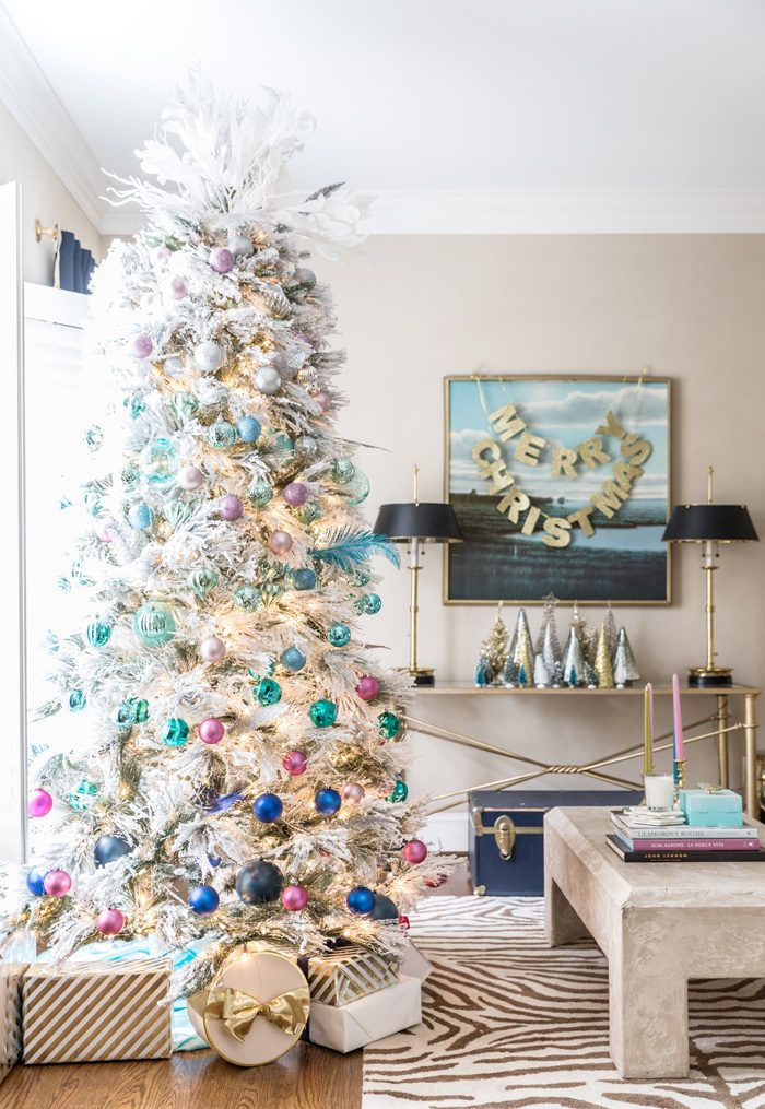 Holiday Home Tour 2016 Flocked Christmas