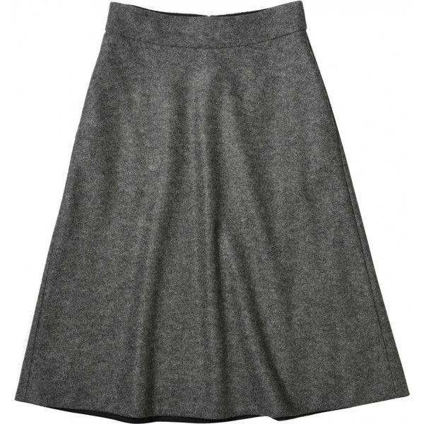 SOFT A LINE SKIRT (1.430 BRL) ❤ liked on Polyvore featuring ...
