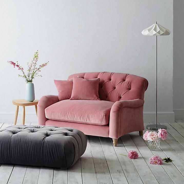 Crumble Snuggler By Loaf At John Lewis Light Leg Pink Sofa Small Sofa Comfy Sofa