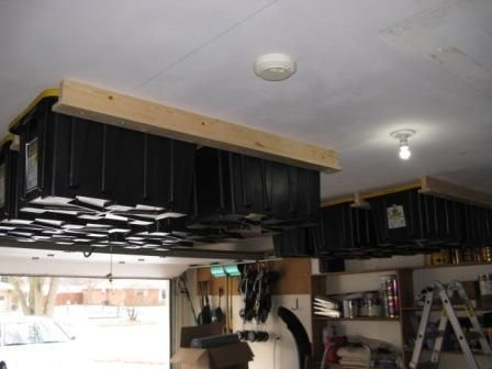 Ingenious Household Project That Can Help You Save Some Space...overhead garage storage rack