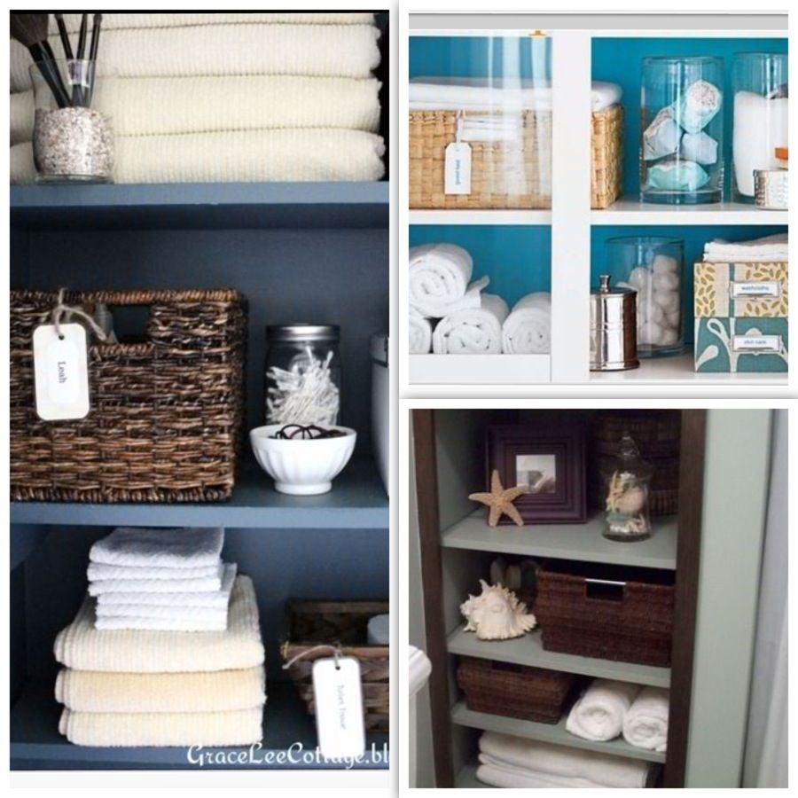 Spa Bathroom Decorating And Organizing Ideas. Remove Middle Drawers,  Replace With Shelves.