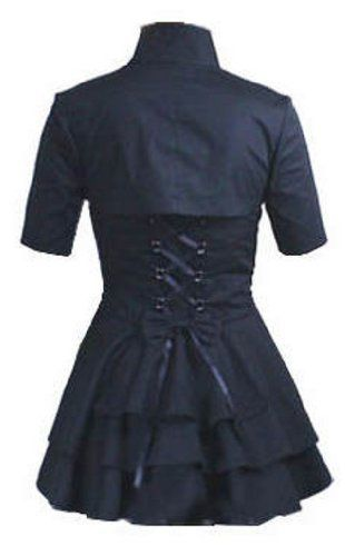 Black Vampira Blouse: Gothic Mock Bolero Corset Victorian Medieval Sweetheart Steampunk Size 18-20 DangerousFX,http://www.amazon.com/dp/B00513QA64/ref=cm_sw_r_pi_dp_bf2Wrb07A1014484