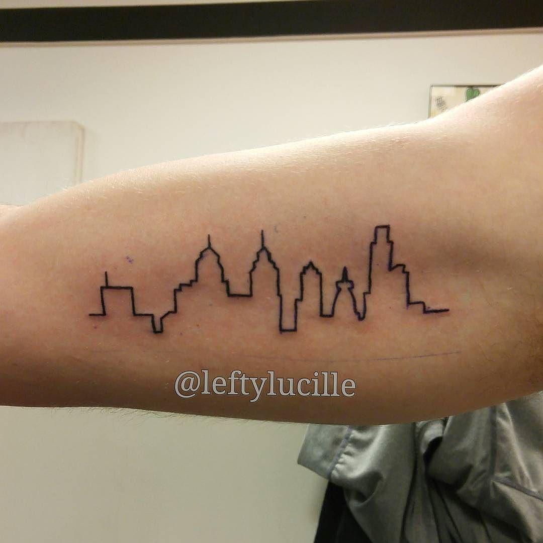 Airplane tattoo designs bodysstyle -  Philadelphia Skyline Silhouette Tattoo By Erin Leftylucille Albany