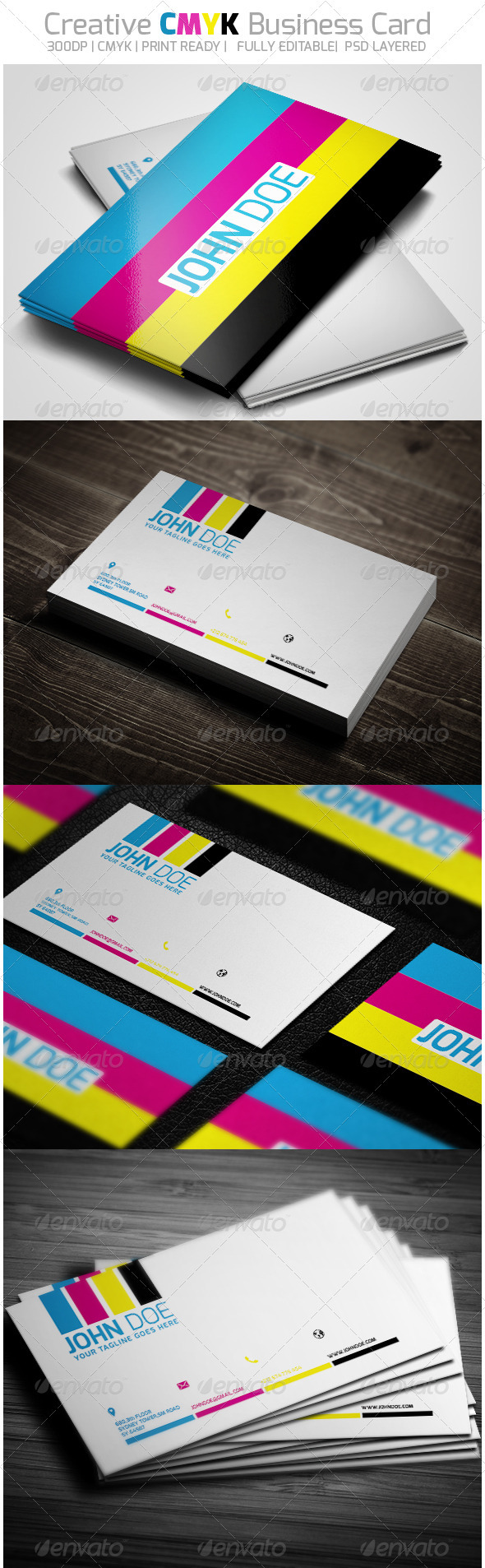 Creative CMYK Business Card | Business cards, Business and Creative