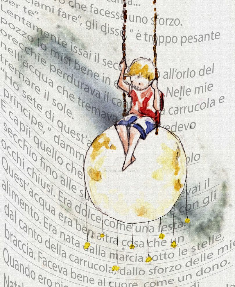 Principe by IreneMontano on DeviantArt #littleprince #stars #childrenillustration