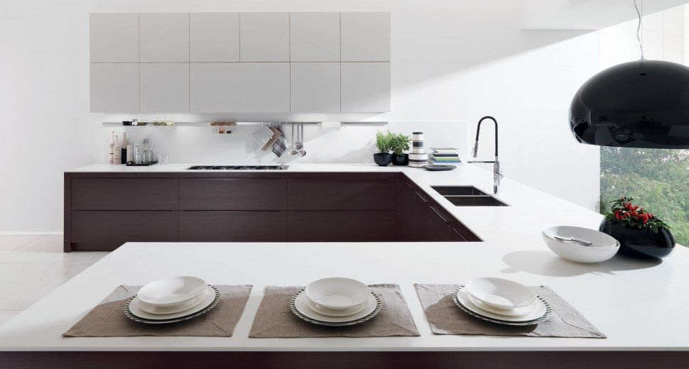 Modern Kitchens And Furniture Coordinated Open Space Of The Living Spaces.  Home Furnishings For Kitchens And Living By Euromobil Kitchens: Design At  The ...