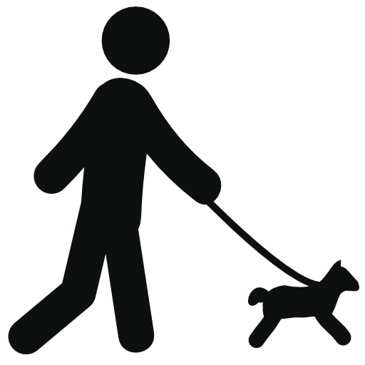 Walking With Dog Free Vector Icons Designed By Freepik Free Clip Art Clip Art Free Icons