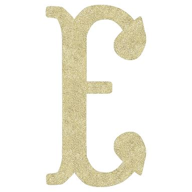 Camille Wall Letters, Gold Glitter, E   *Decor > Letters ...