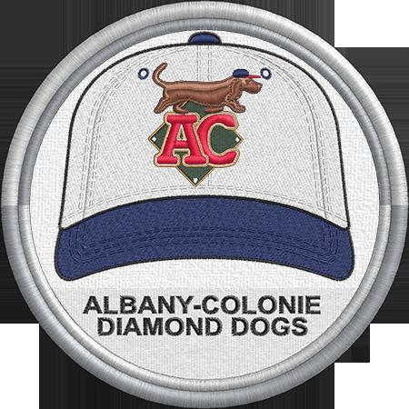 Albany Colonie Diamond Dogs Baseball Cap Hat Sports Logo Eastern League Minor League Baseball Milb Creat Minor League Baseball Sports Logo League
