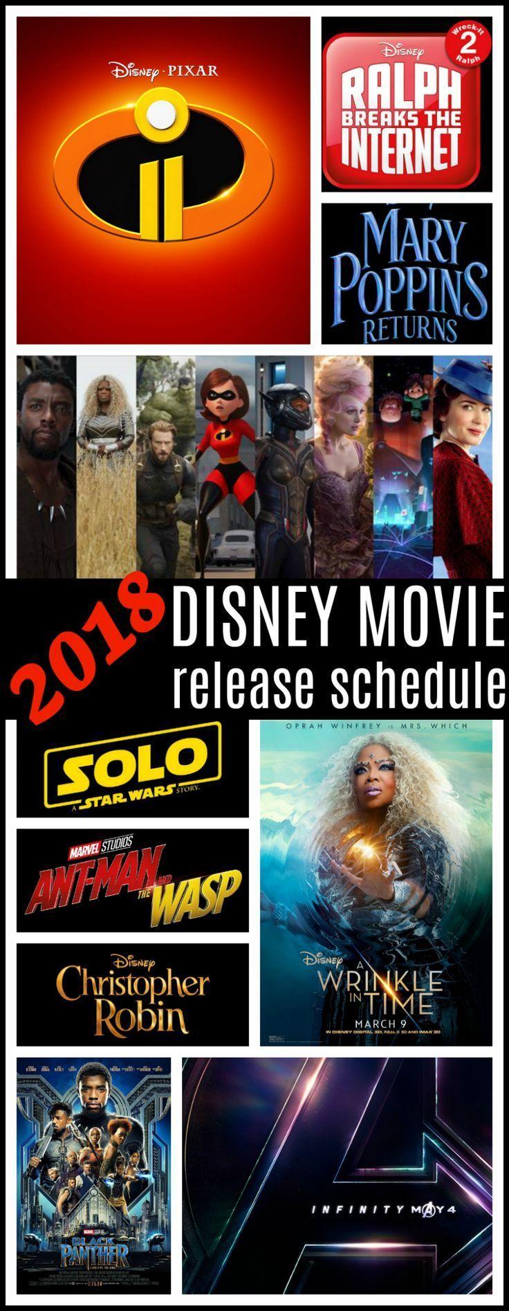 2018 Disney Movie Schedule Disney movies list, Disney