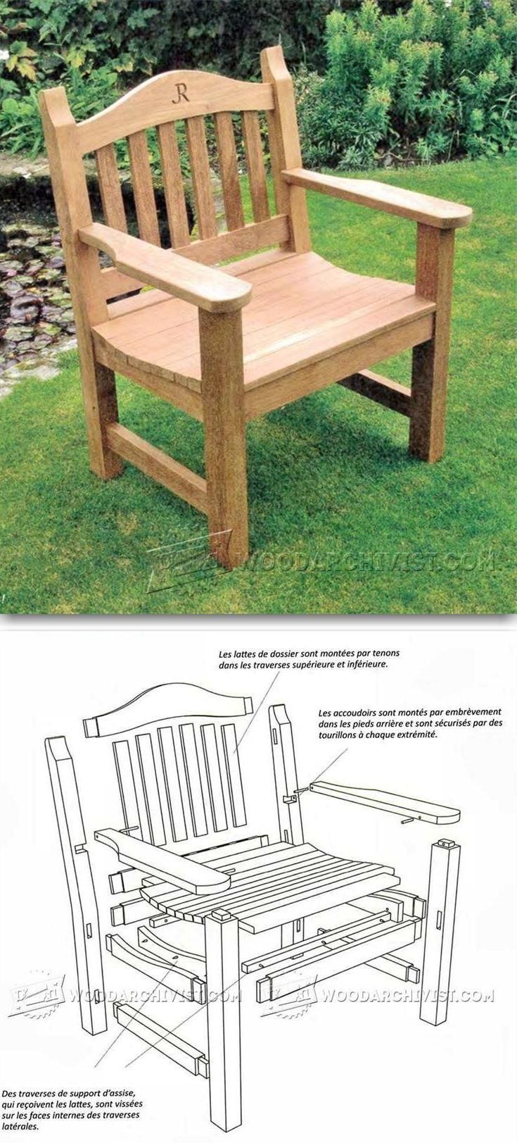 outdoor chair plans outdoor furniture plans and projects