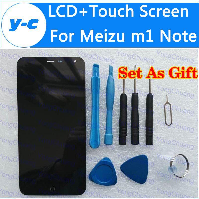 Für meizu m1 note display 100% neue lcd screen + touch screen digital panel glas reparatur für meizu mtk6752 1920x1080 fhd 5,5 zoll