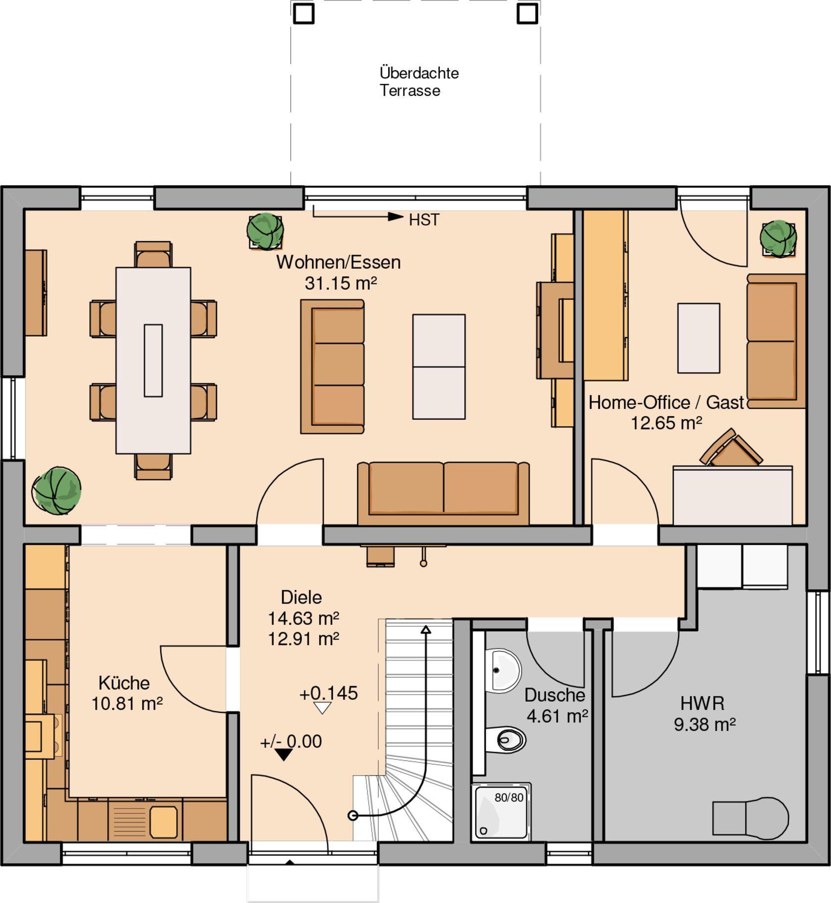 Küchenplan grundriss häuser  häuser  pinterest  haus haus grundriss und haus bauen