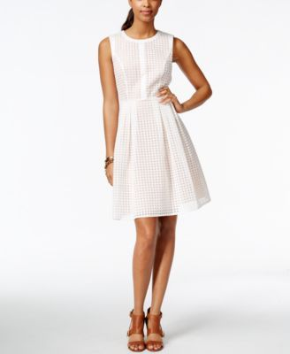 fba659d76da Tommy Hilfiger Organza Lace Fit & Flare Dress, Only at Macys.com Tommy