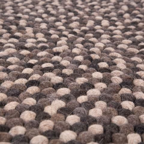 Natural Grey Felt Ball Rug Australia 3