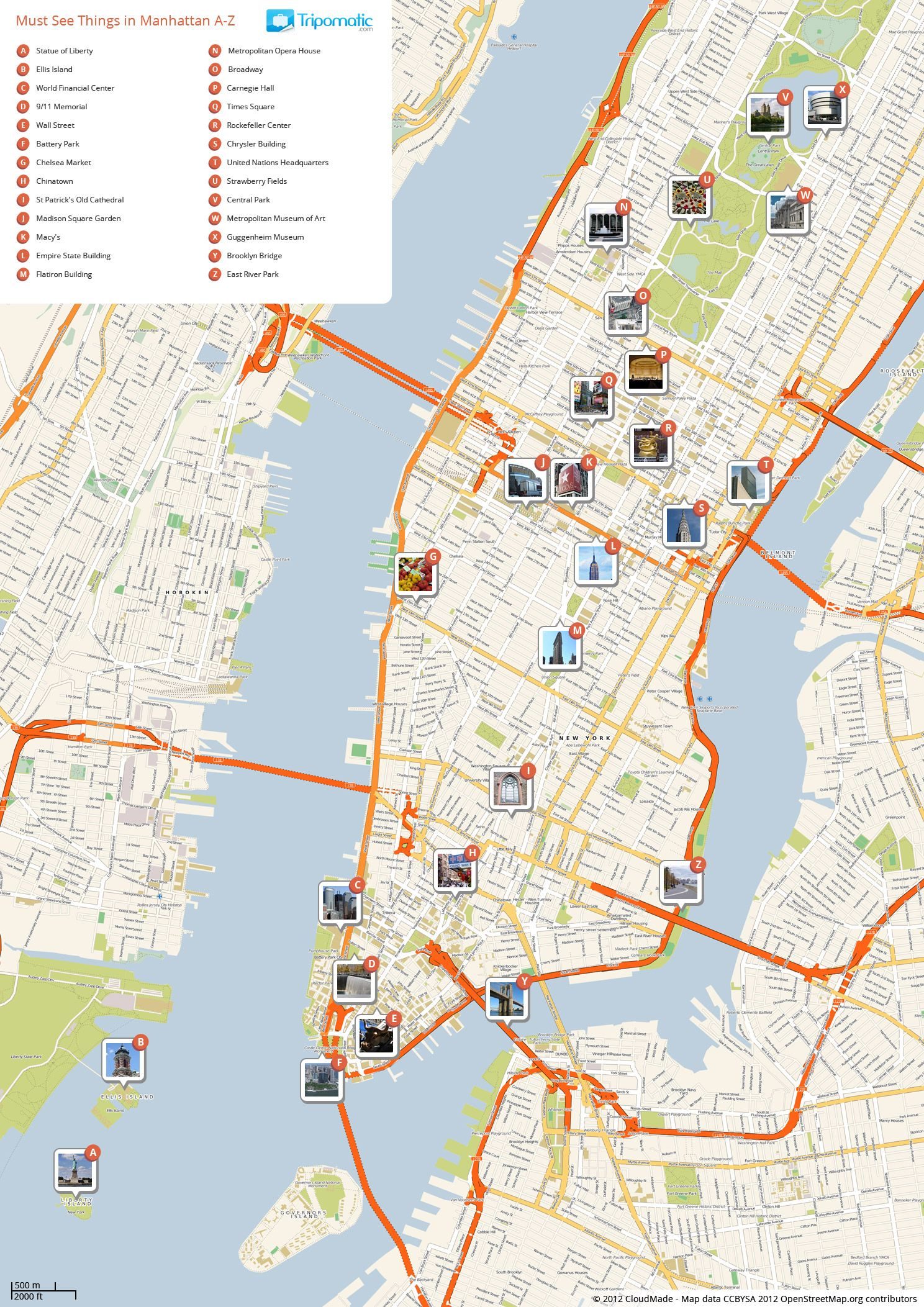 Exciting Printable Map Of Manhattan