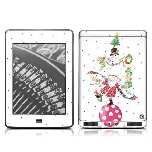 Christmas circus design protective decal skin sticker for amazon kindle touch touch 3g 6 inch ink display with multi touch by mygift 16 99