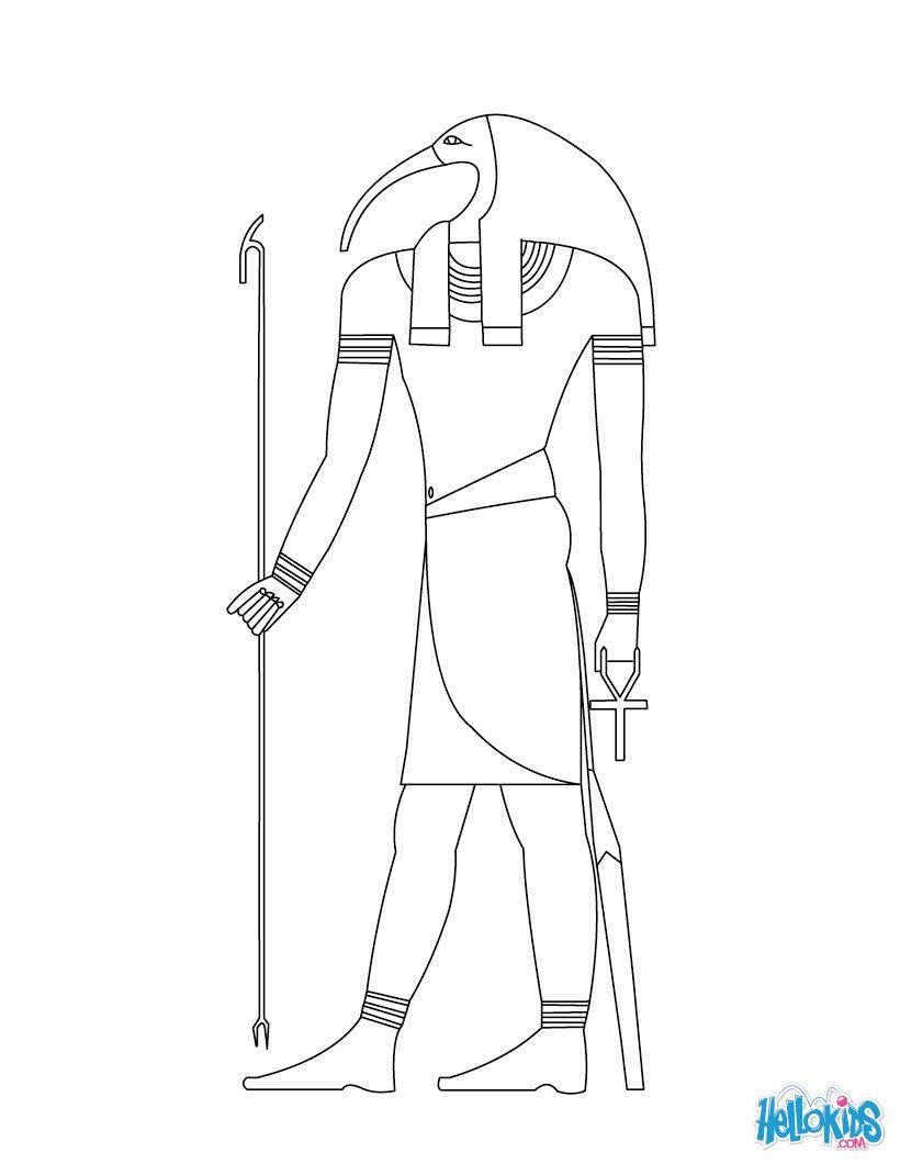 Thot Egyptian Goddess Gods Coloring Page Gods Of Egypt