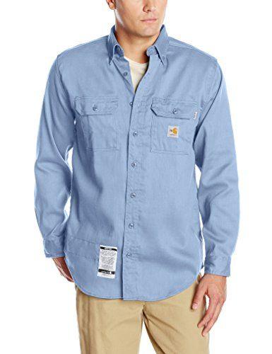 Carhartt Mens Big /& Tall Flame Resistant Lightweight Twill Shirt