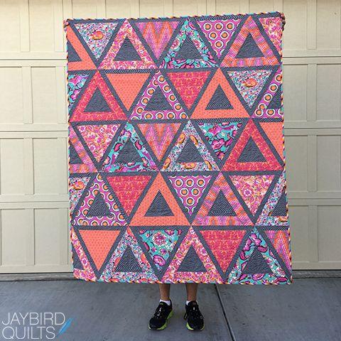 Jaybird Quilts Chopsticks Quilt. Made with Tula Pink Chipper ... : local quilt shops - Adamdwight.com