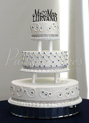 3 tier wedding cake with cake topper | Wedding Cakes | Pinterest ...