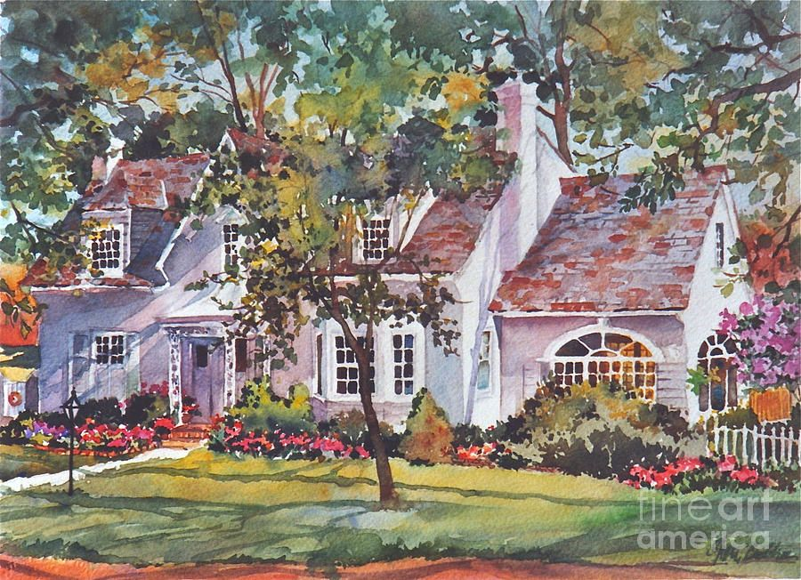 St Louis House Painting by Sherri Crabtree watercolor Pinterest