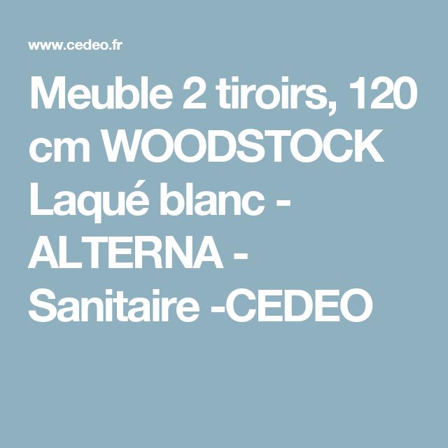 meuble 2 tiroirs 120 cm woodstock