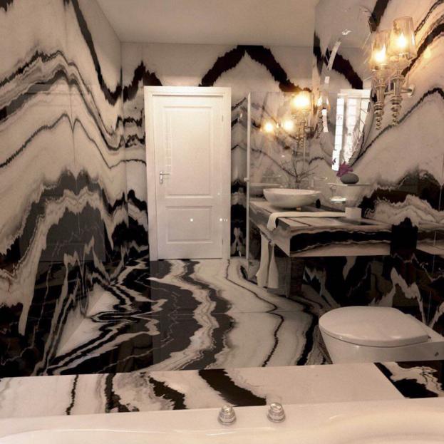 Panda Marble Bathroom