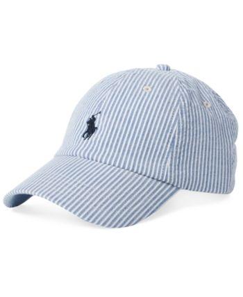 b3db9ac8e6733 Polo Ralph Lauren Men's Seersucker Baseball Cap - Blue/white Ralph Laurent,  Summer Cap