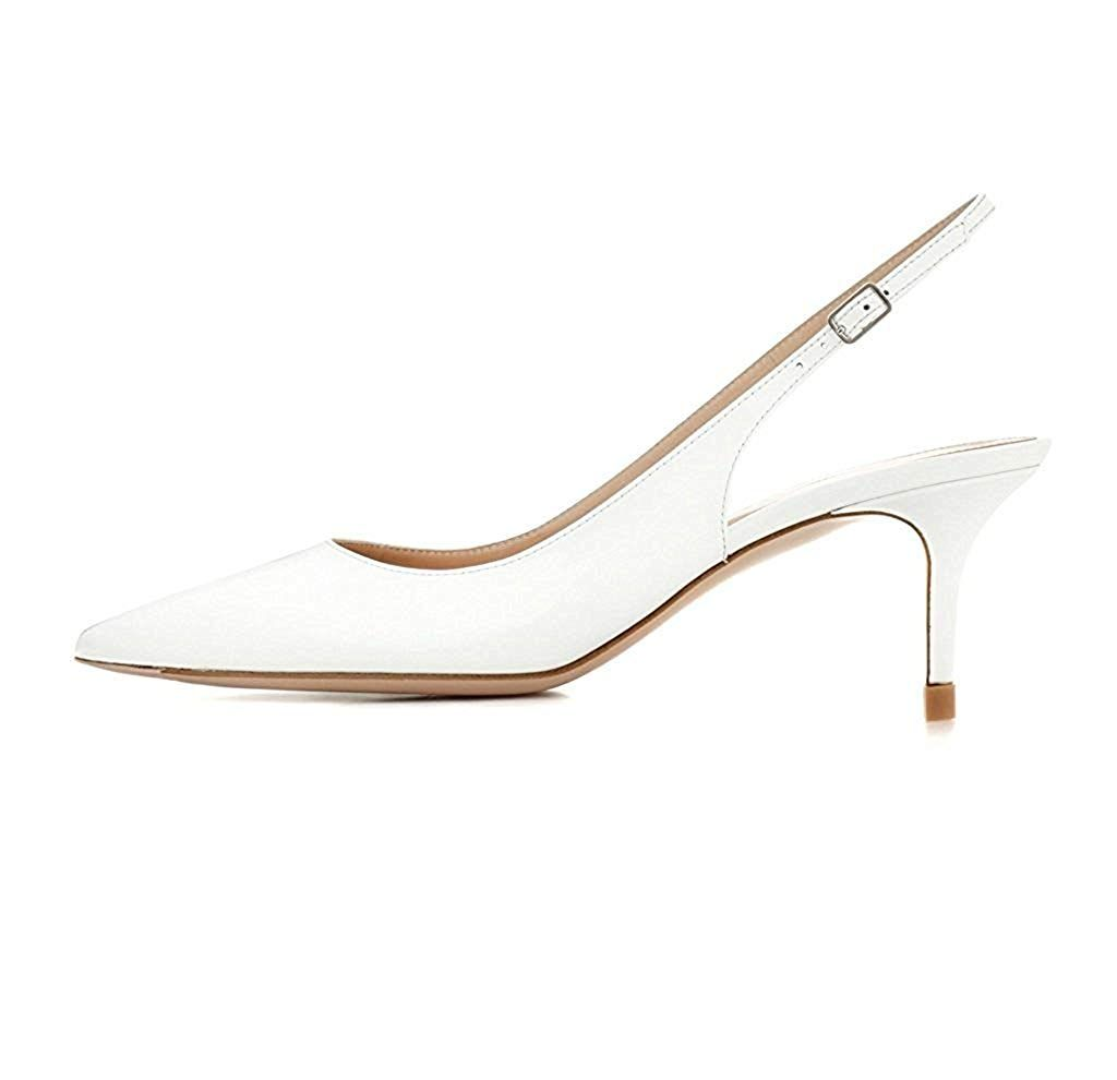 4e63821910 yBeauty Women's Slingbacks Pumps Low Kitten Heels Sandals Pointed Toe Pumps  Ankle Strap Shoes 6.5cm * Hope that you actually love the picture.