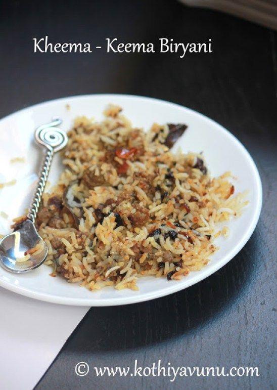 Kheema Keema Biryani Recipe Ground Goat Biryani Recipe