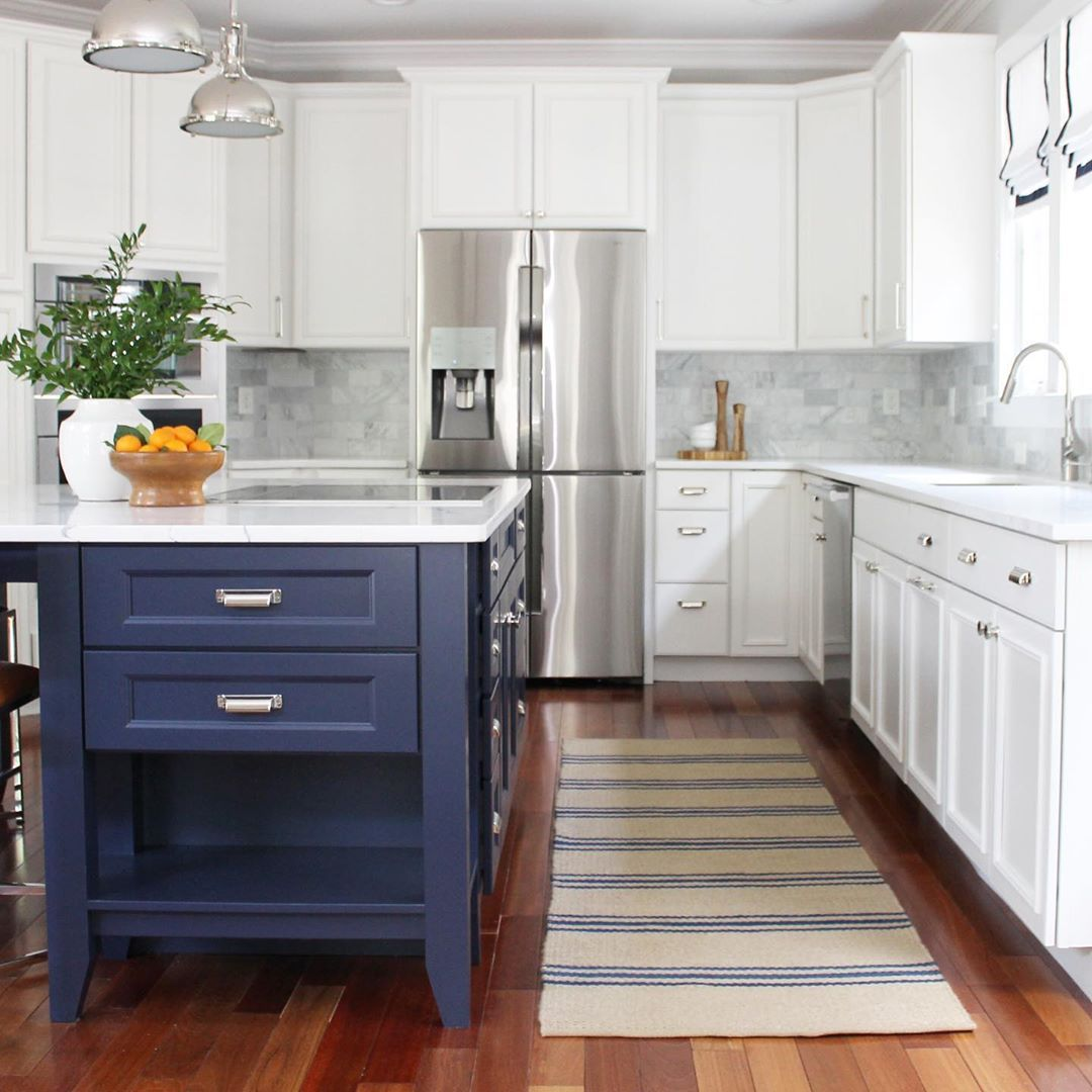 Jess Weeth On Instagram Featuring Sherwin Williams Recently Announced 2020 Color Of The Year Naval As Used In The In 2020 Kitchen Remodel Kitchen Kitchen Design