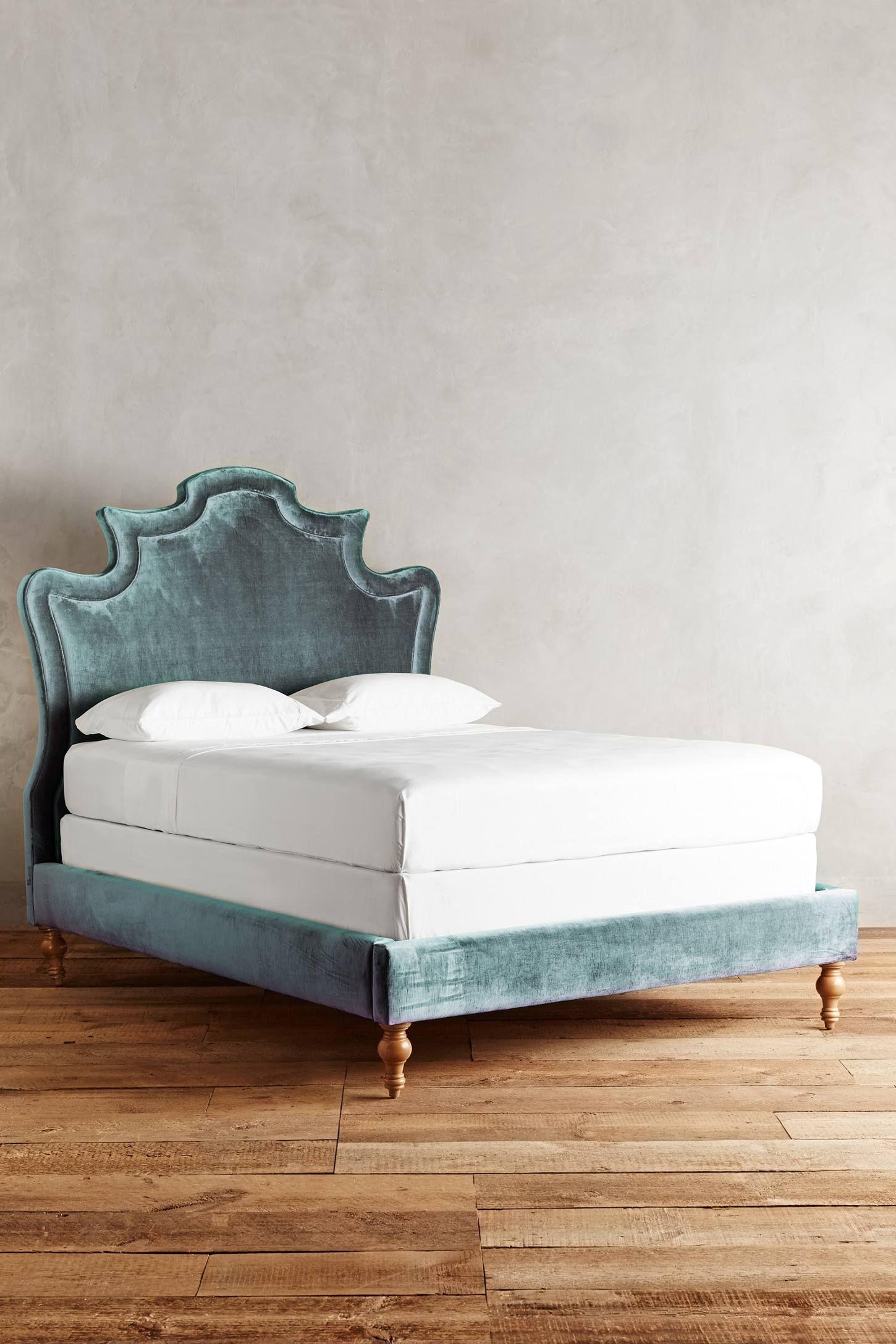 Velvet Ainsworth Bed Bed furniture, Unique bed frames