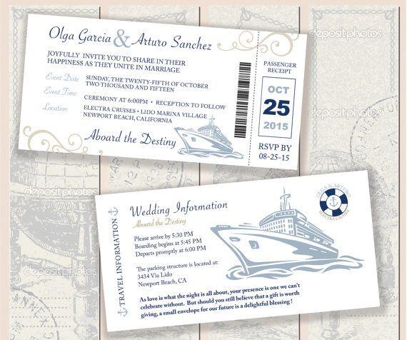 Nautical Boarding Pass Invitation par studiorosedesign sur Etsy