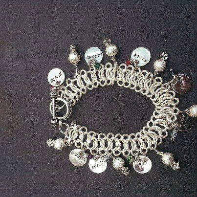 A family chainmaille bracelet. $40.00, via Etsy.