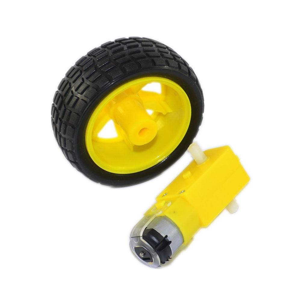 1PCS DC motor +1PCS Rubber Wheel for Arduino Robot car /Smart car