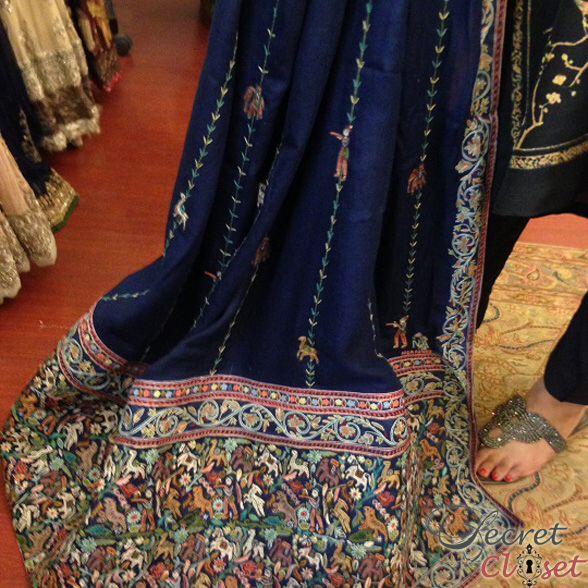 Designer Kashmiri hand embroidered Shawl. Description by Pinner Mahua Roy Chowdhury