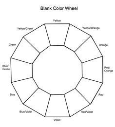 Image Result For Blank Color Circles To Print Color Wheel Art